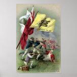 La bandera de la serpiente de cascabel en la batal posters