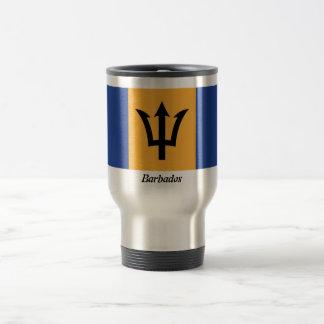 La bandera de la taza de café de Barbados
