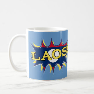 La bandera de Laos Taza