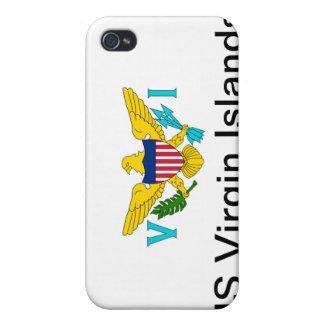 La bandera de las Islas Vírgenes de los E.E.U.U. iPhone 4/4S Funda