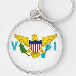 La bandera de las Islas Vírgenes de los E.E.U.U. Llaveros Personalizados