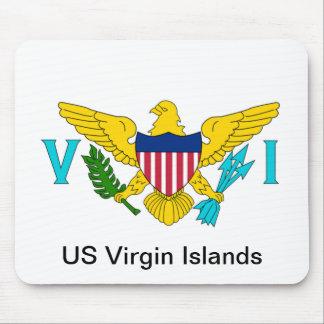 La bandera de las Islas Vírgenes de los E.E.U.U. Mouse Pads