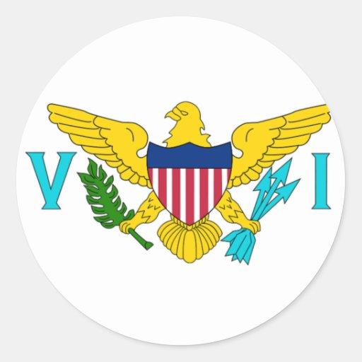 La bandera de las Islas Vírgenes de los E.E.U.U. Pegatinas