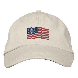 La bandera de los E.E.U.U. América protagoniza el Gorra De Béisbol Bordada