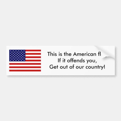 La bandera de los E.E.U.U., ésta es la bandera ame Etiqueta De Parachoque