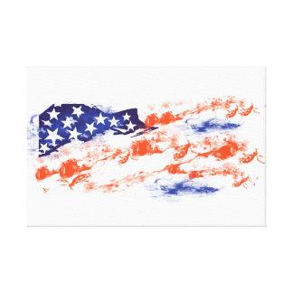 La bandera de los E.E.U.U. Impresiones De Lienzo