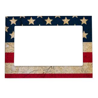 La bandera de los E.E.U.U. protagoniza y protagoni Marcos Magneticos Para Fotos