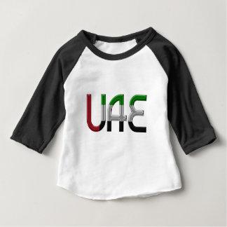 La bandera de los UAE United Arab Emirates colorea Playera De Bebé