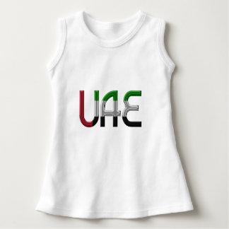 La bandera de los UAE United Arab Emirates colorea Vestido