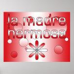 La bandera de Madre Hermosa Perú del La colorea ar Posters