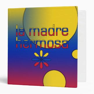 La bandera de Madre Hermosa Venezuela del La color