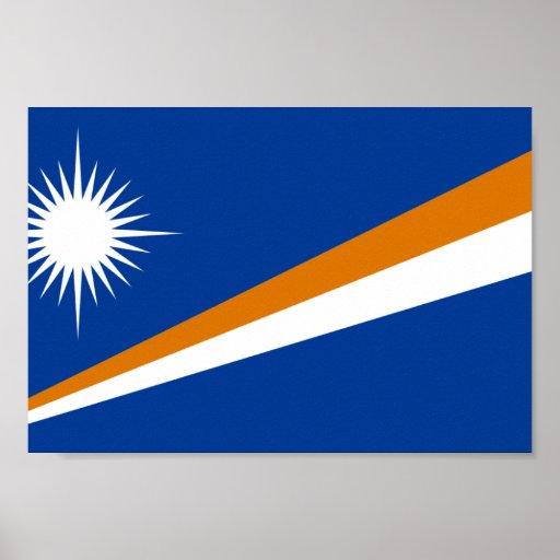 La bandera de Marshall Islands Póster