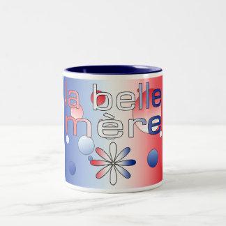 La bandera de Mère Francia de la belleza del La co Tazas De Café
