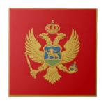 La bandera de Montenegro Azulejo Cuadrado Pequeño