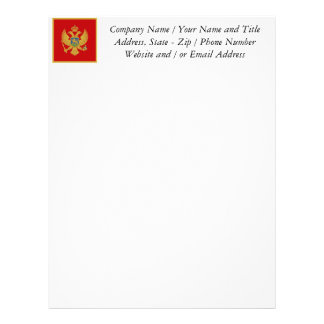 La bandera de Montenegro Membretes Personalizados