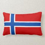 La bandera de Noruega Cojin