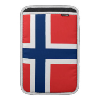 La bandera de Noruega - Escandinavia Fundas MacBook