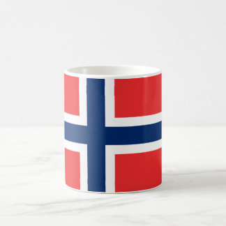La bandera de Noruega - Escandinavia Tazas De Café