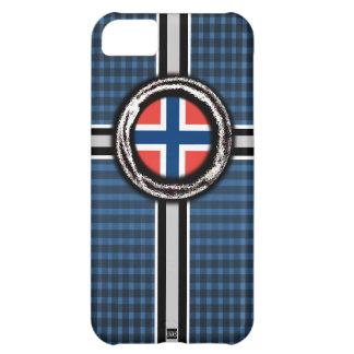 La bandera de Noruega graba en relieve la caja de