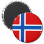 La bandera de Noruega Iman De Nevera