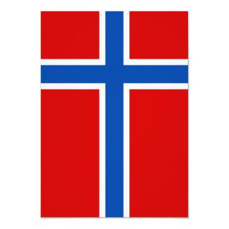 La bandera de Noruega Invitación 12,7 X 17,8 Cm