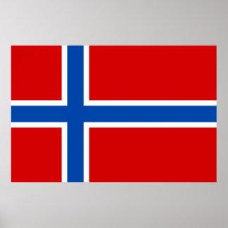 La bandera de Noruega Posters