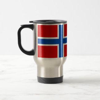 La bandera de Noruega Taza De Viaje De Acero Inoxidable