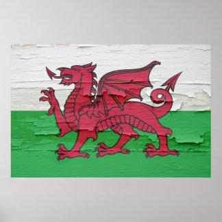 La bandera de País de Gales resistió a la pintura Impresiones