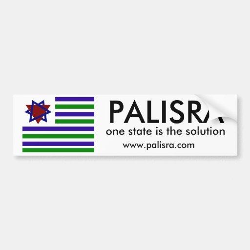 La bandera de PALISRA, un estado es el solutio… Etiqueta De Parachoque
