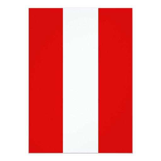 """La bandera de Perú Invitación 5"""" X 7"""""""
