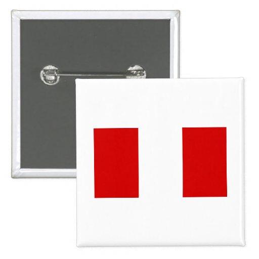 La bandera de Perú Pin
