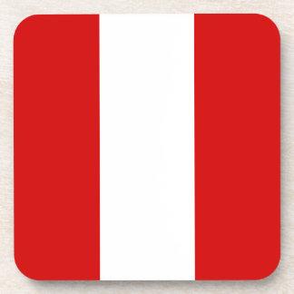 La bandera de Perú Posavasos De Bebida