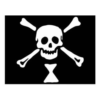 La bandera de pirata auténtica de Manuel Wynne Tarjeta Postal
