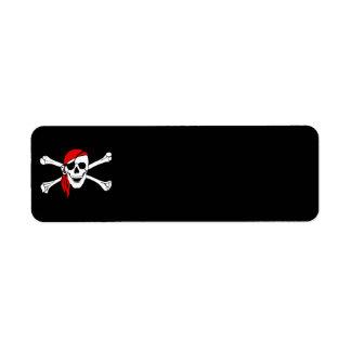 la bandera de pirata pirate-47705 deshuesa peligro etiqueta de remite