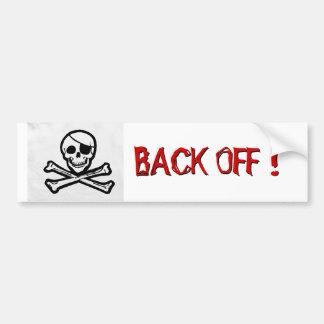 """La bandera de pirata """"retrocede"""" a la pegatina par pegatina para auto"""