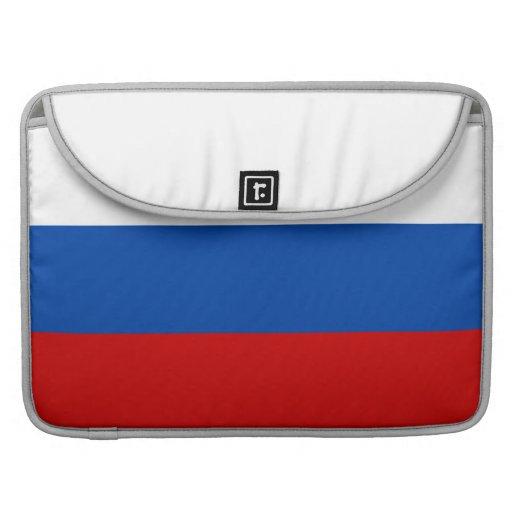 La bandera de Rusia Fundas Para Macbook Pro
