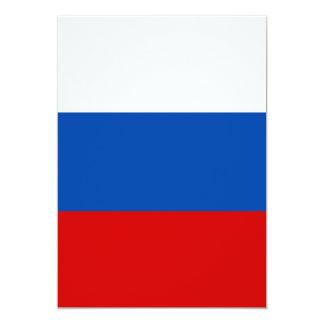 """La bandera de Rusia Invitación 5"""" X 7"""""""