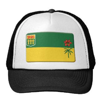 La bandera de Saskatchewan PERSONALIZA Gorros