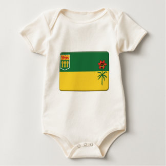 La bandera de Saskatchewan PERSONALIZA Trajes De Bebé