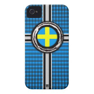 La bandera de Suecia graba en relieve la caja de l Case-Mate iPhone 4 Cárcasas