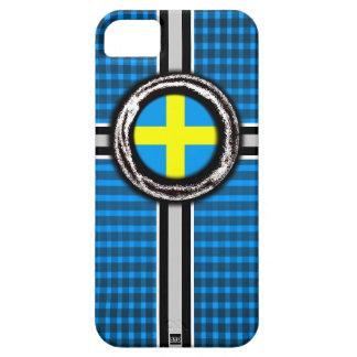 La bandera de Suecia graba en relieve la caja de l iPhone 5 Case-Mate Cárcasas