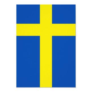 """La bandera de Suecia Invitación 5"""" X 7"""""""