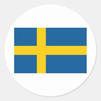 La bandera de Suecia Pegatina Redonda