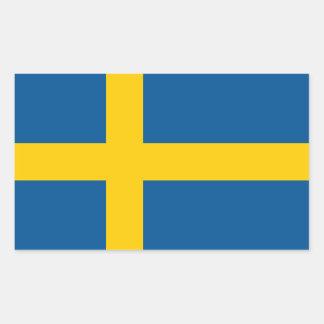 La bandera de Suecia Pegatina Rectangular