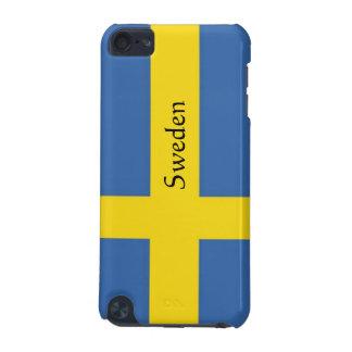 La bandera de Suecia-Personaliza el texto Carcasa Para iPod Touch 5G