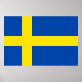 La bandera de Suecia Póster