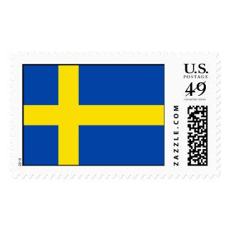 La bandera de Suecia Franqueo