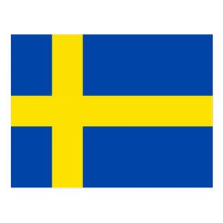 La bandera de Suecia Tarjetas Postales