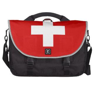 La bandera de Suiza Bolsa Para Ordenador