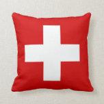 La bandera de Suiza Cojines